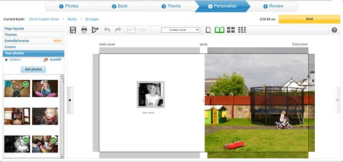 Snapfish Book Screen Grabs