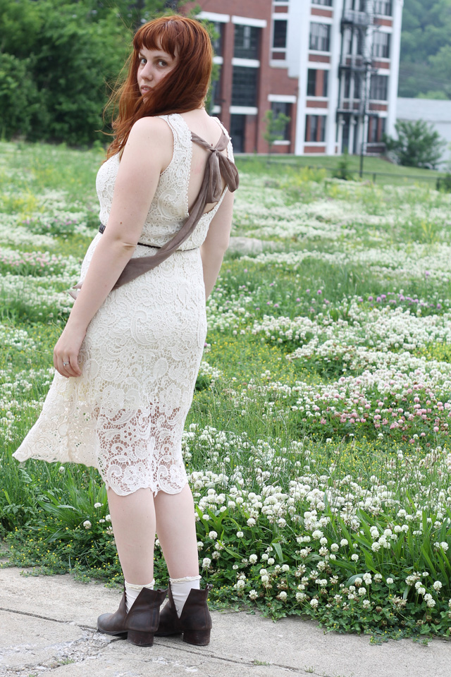 Ginger and Clover Outfit: Modcloth cream lace
