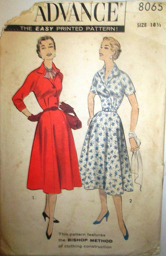 Advance 8065, 1956 dress pattern