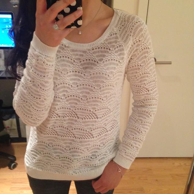 LOFT Fan Stitch Cotton Sweater