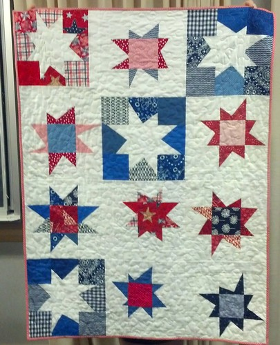 finished star quilt