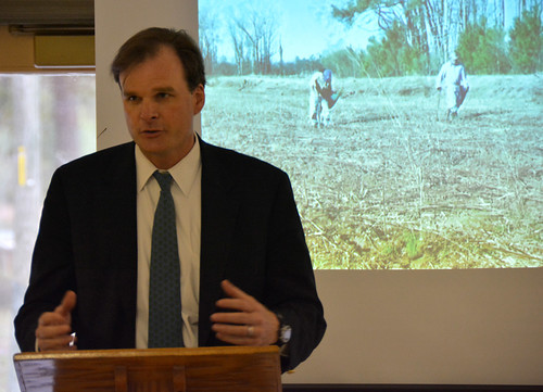 USDA Under Secretary Robert Bonnie spoke to local, state and federal partners in South Carolina and thanked them for their collaborative efforts to restore and improve the ecosystem. NRCS photo.