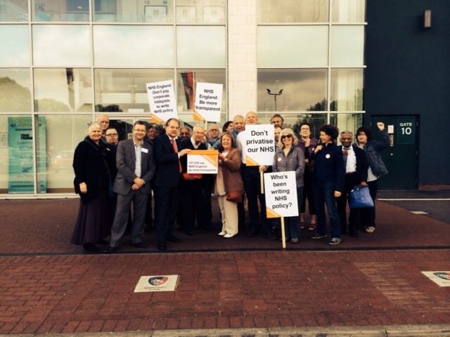 NHS England petition hand-ins in York, Leicester, London and