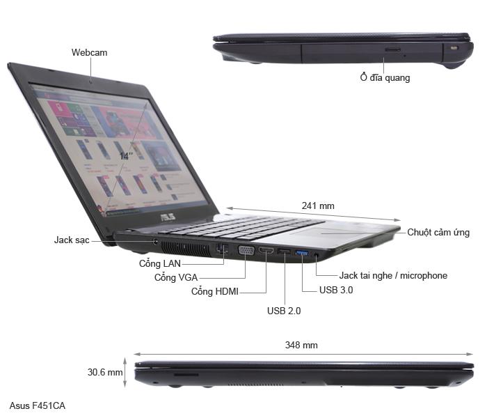 F451CA laptop giá rẻ phù hợp cho sinh viên - 22260