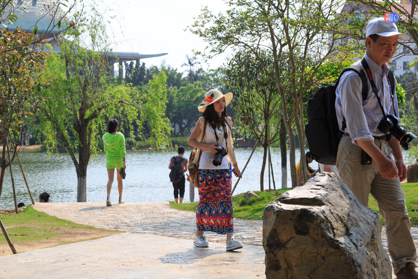 廈門大學 (2) 芙蓉湖之湖畔風光