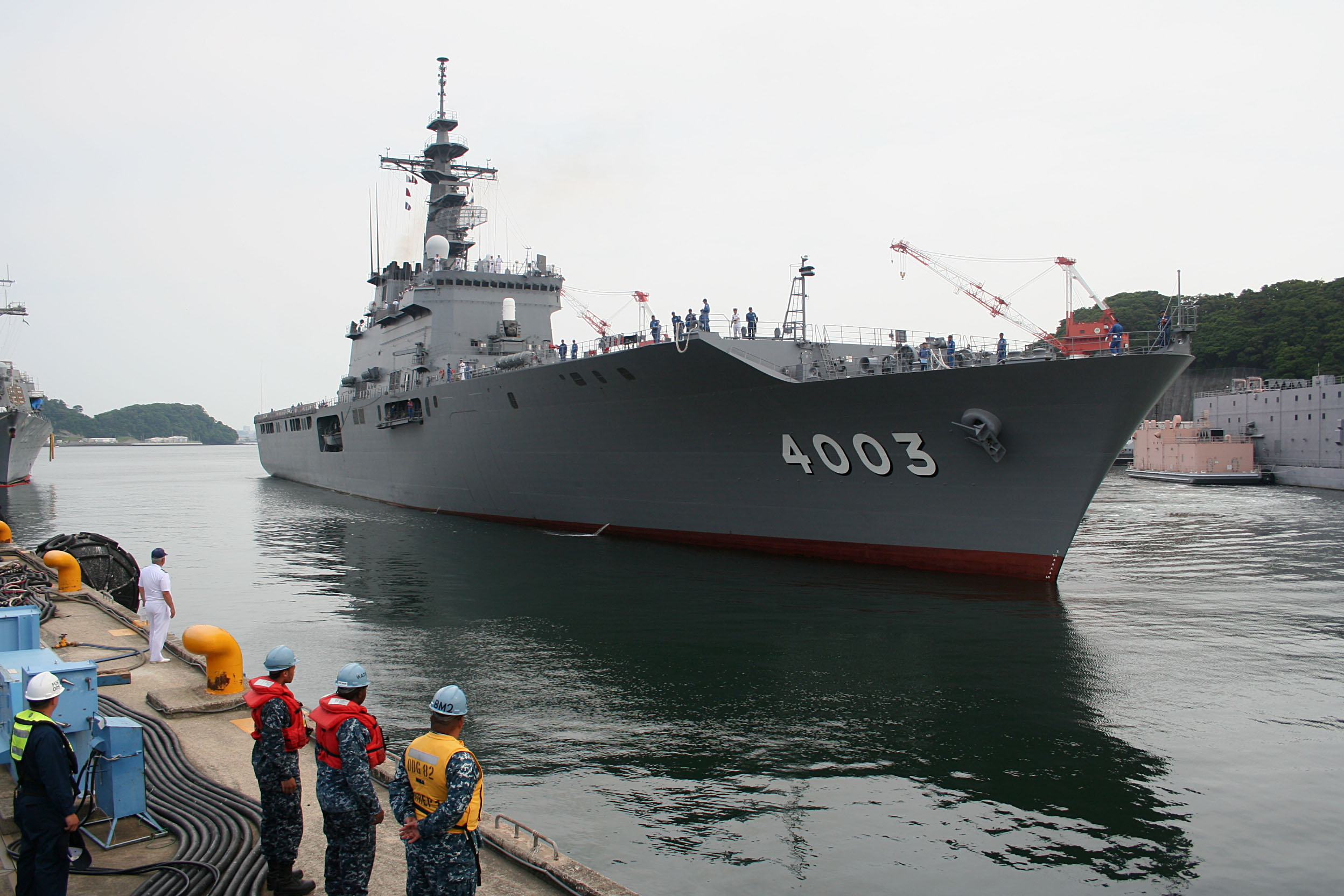 JS Kunisaki arrives in Yokosuka for PP14 on-load