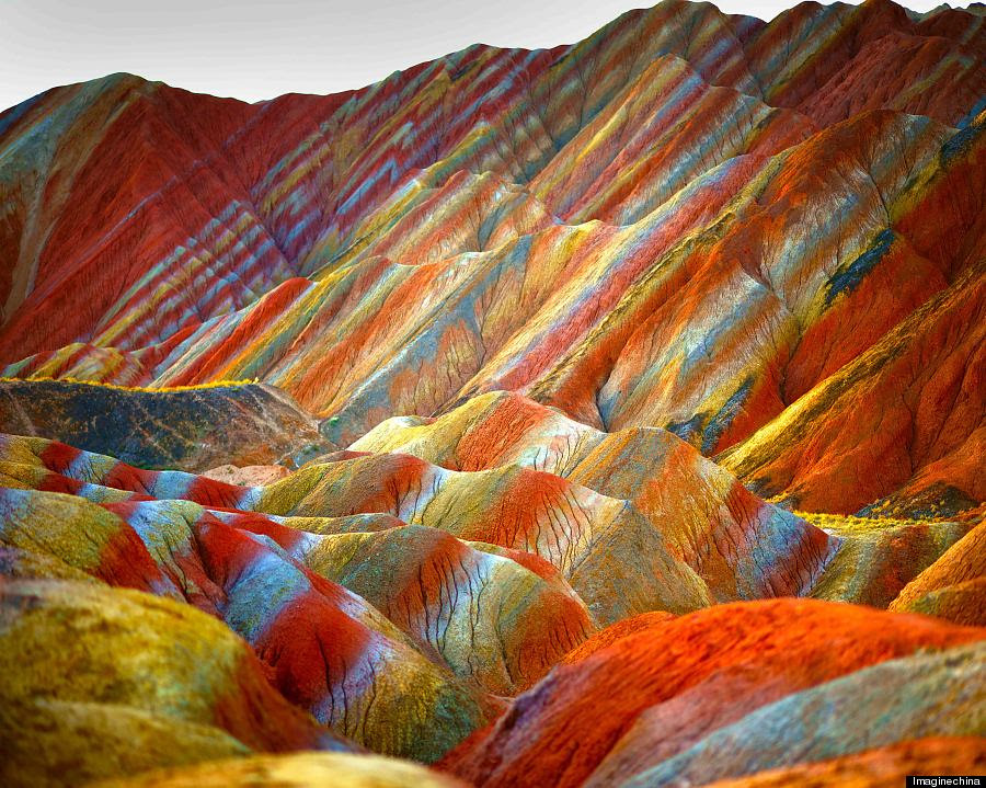 Rainbow Mountain, Zhangye Danxia Landform Geological Park in China 5