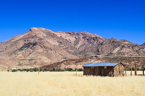 Local farmers at the foot of Brandberg mountain, Namibia