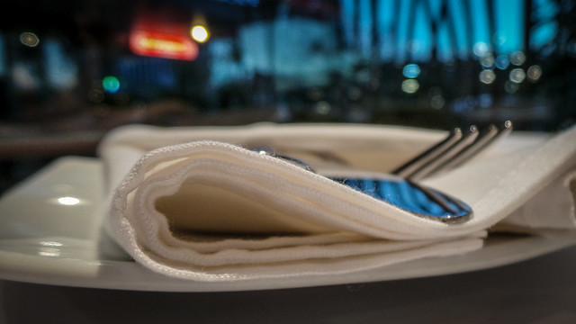 Napkin and Cutlery