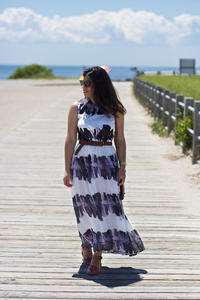 ink stain maxi dress, trask bag and sandals-1.jpg