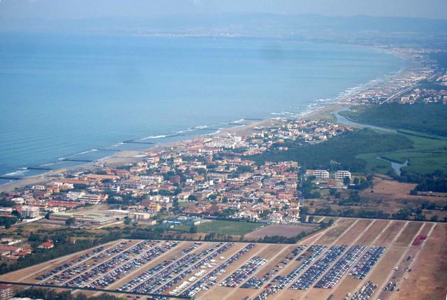 Fiumicino aerial