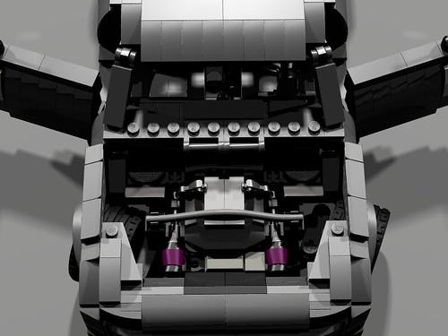Lego Nissan 350Z - engine