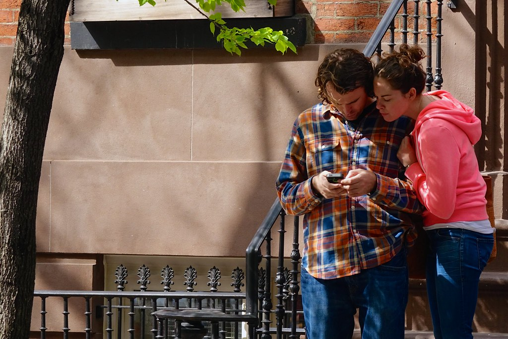 A sign of the times: everyone wants to see what's on your smartphone