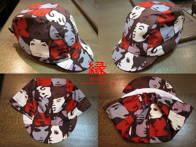 Photo:ENISHI Hand Made Cycle Cap  FACE TIME COLORS type01 → SOLD OUT By jun.skywalker (enishi hand made cyclecap)