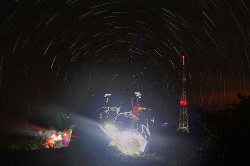 Star trails at Chalet Hills Busay Cebu City.