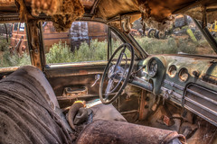 1949 Buick Super sedan with Dynaflow transmission, resting in the sagebrush HDR