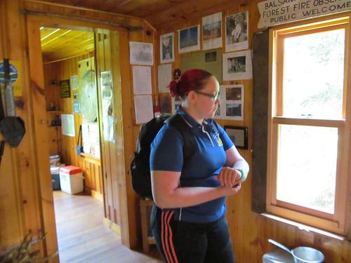 Inside the observer's cabin