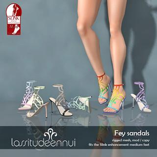 lassitude & ennui Fey sandals