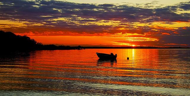 Sunset on Coochiemudlo Island 4/7/14