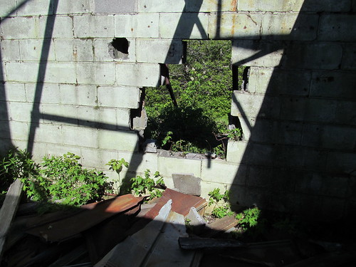 The east wall of the transmitter shack