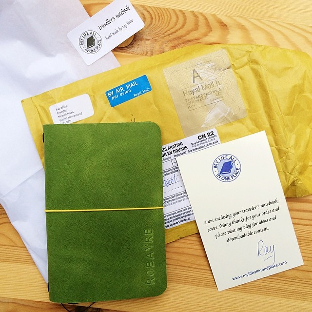 Rushed home from work today hoping today would be the day. I opened up the mailbox and my heart leapt. My field note sized #midori style (#raydori) arrived. It's green and SO SO beautiful! I want to jump right in filling pages but I think I should first s