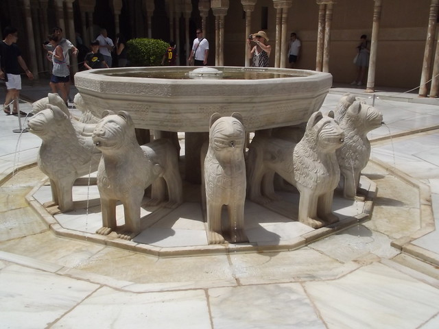 Nasrid Palaces - The Alhambra - Granada - The Palace of the Lions - Court of the Lions