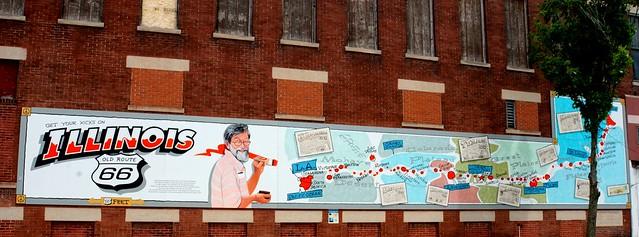 Bob Waldmire Mural - Pontiac, Illinois