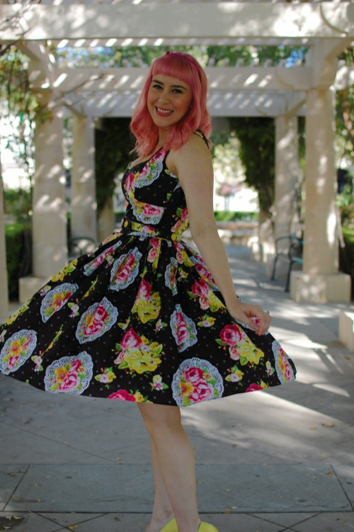 Bernie Dexter The Absolute Sweetheart Swing Dress Doily Print