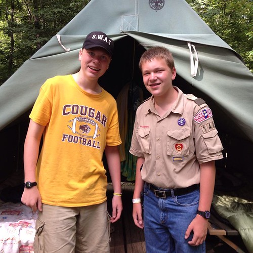 Boys at Boy Scout Summer Camp 2014