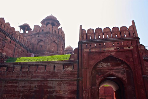 Entrance to The Red Fort in Delhi, India