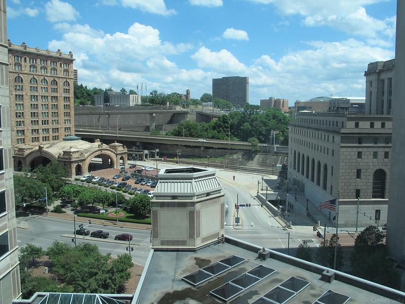 Pittsburgh Amtrak and skyline