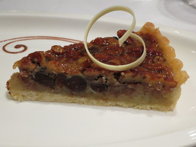 IMG_0806: Pecan pie with chocolate chips at Marriott cooking class