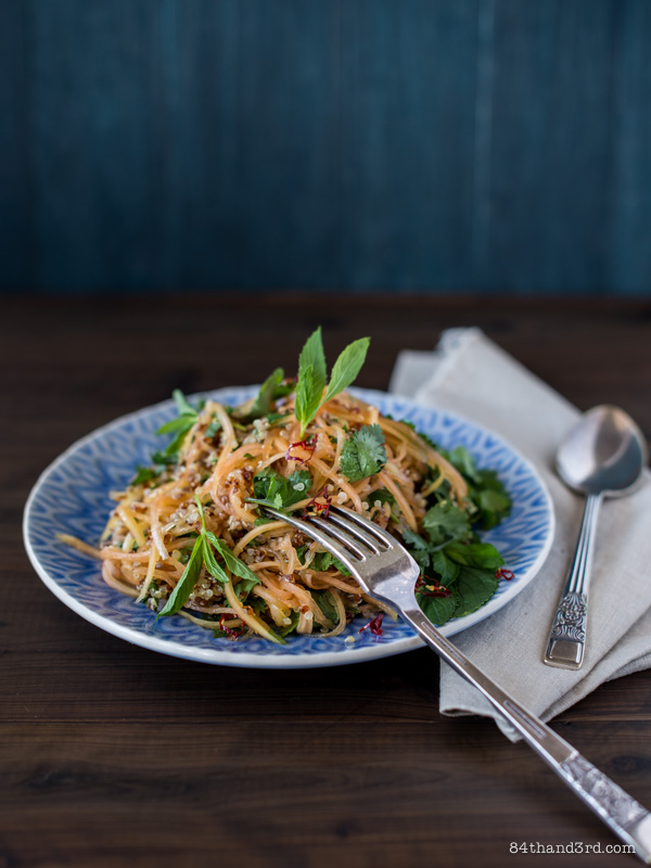 Green Papaya Quinoa Salad