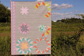 Deconstructed Dutch Rose Quilt