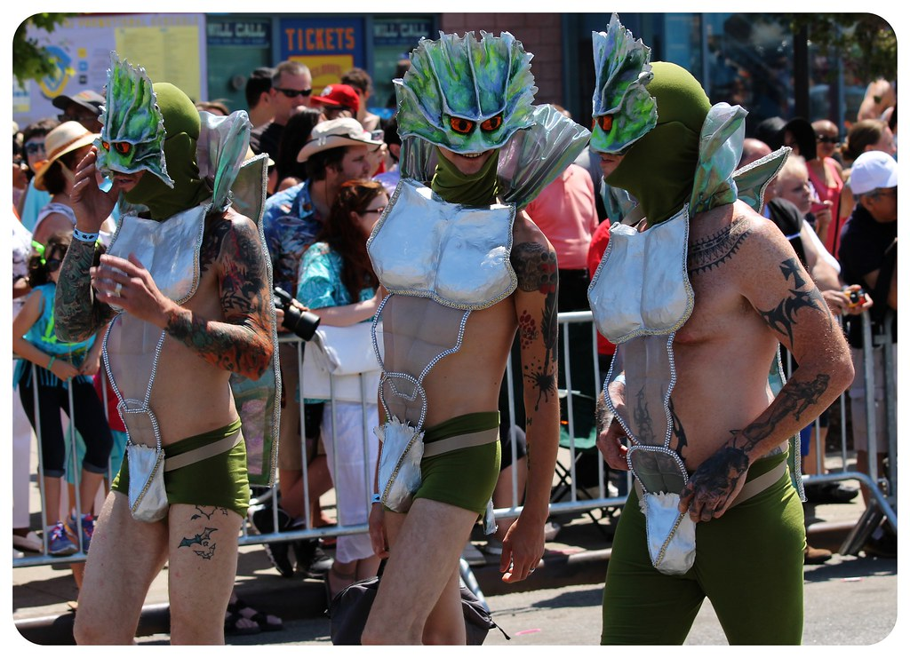 coney island mermaid parade 2014 guys