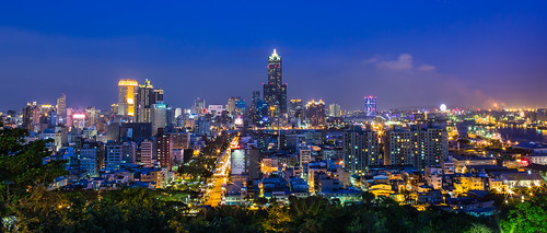 longexposure blue light sunset sky night 35mm canon landscape taiwan clear kaohsiung rays 6d 85大樓 35l 八五大樓 星茫