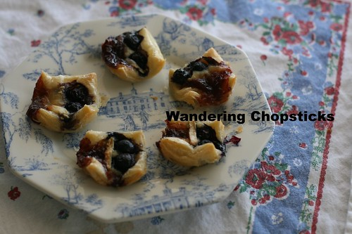 Red (Lingonberry), White (Brie), and Blue(berry) Puff Pastry Tarts 9