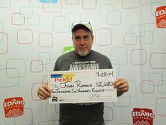 John Ramos - $2,680 Pick 3