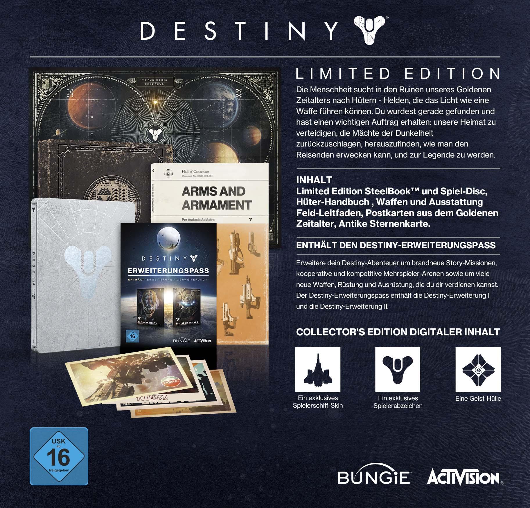 Destiny Limited Edition Inhalte