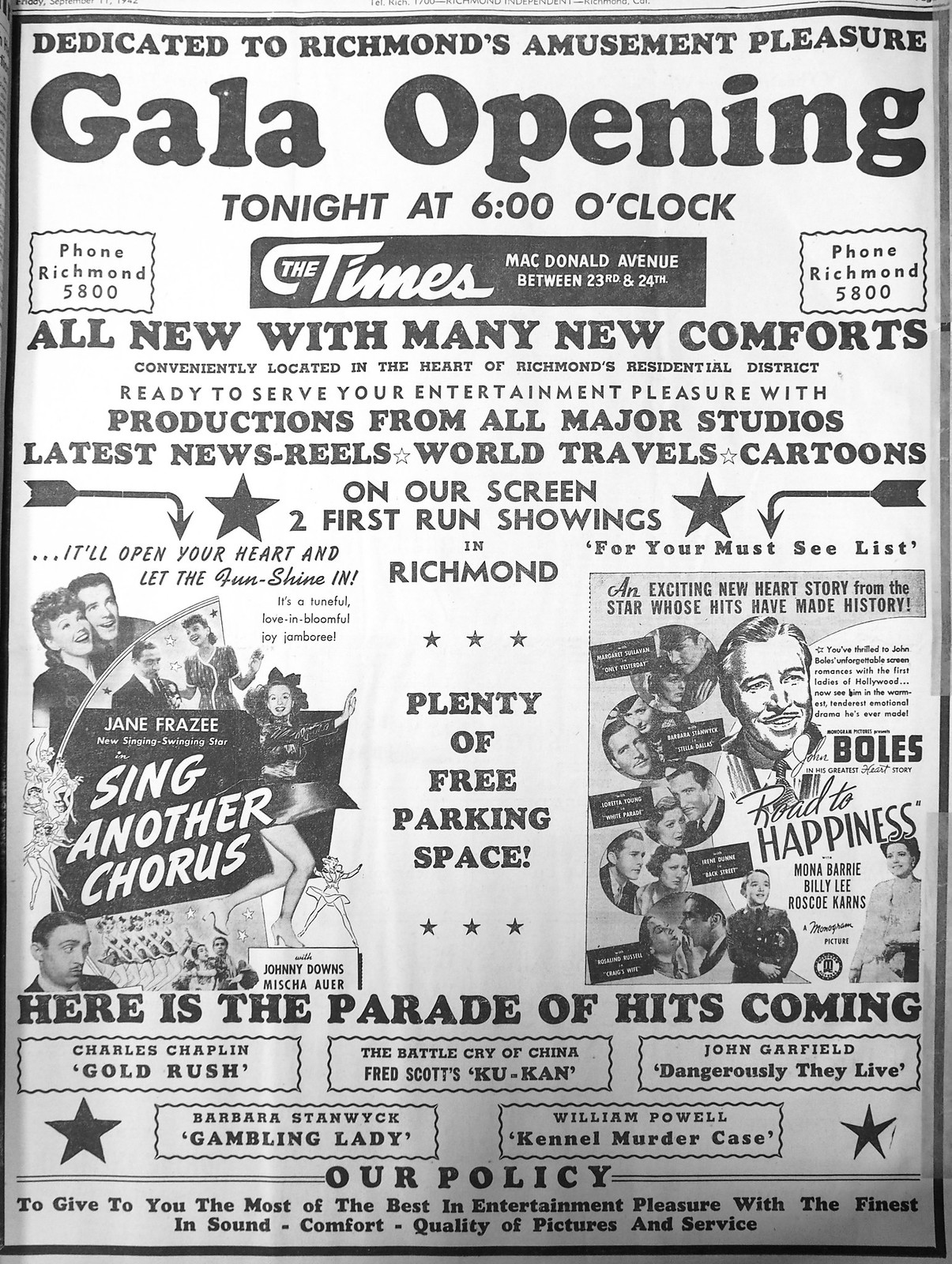 times theater 1942a