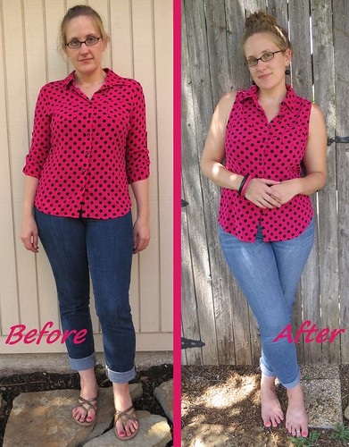 Pink Polka Top - Before & After
