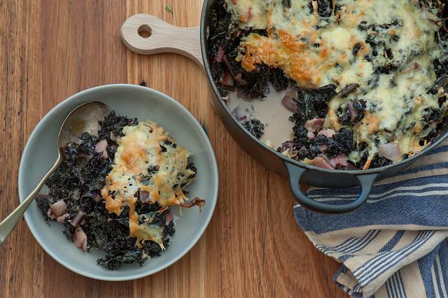 One Pot Dinner Recipe kale gratin-2