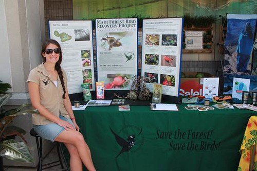 Staff member Laura Berthold at an outreach event.