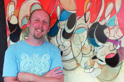 Alumni Chris Vance at the 2014 Des Moines Arts Festival