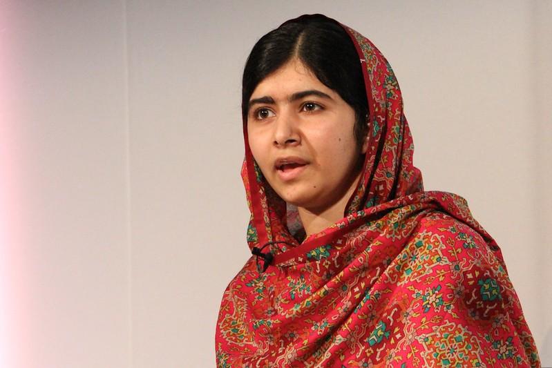 Girls' education rights campaigner and Nobel Peace Prize winner, Malala Yousafzai at Girl Summit 2014