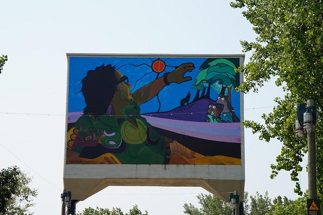 Railbridge Mural at The Forks