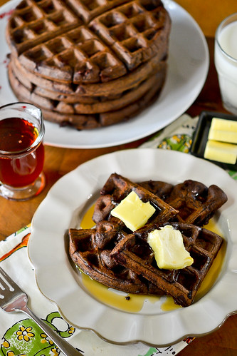 Dark Chocolate Waffles | Full Fork Ahead