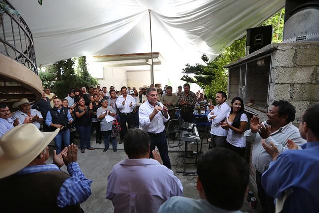 Reunión de trabajo en Santo Tomás Chautla