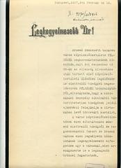 020. Brassó város ajándéka az uralkodó számára, Gróf Tisza István miniszterelnök felterjesztése