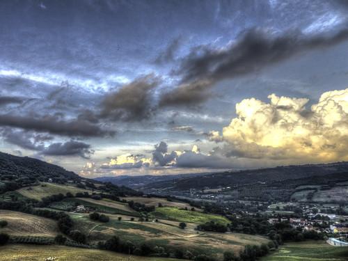 sky italy panorama clouds landscape italia nuvole view cielo veduta marche paesaggio ancona 2014 serrasanquirico